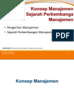 Materi 02 MAN - Konsep Dasar Dan Sejarah Perkembangan Manajemen