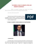 Cinco lições sobre a vida e o Direito - Luís Roberto Barroso - Patrono de Turma - UERJ