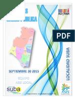 Atlas de Salud Pública. Localidad Suba 2014