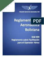 Reglamento Aeronautica Boliviana RAB999