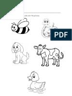 ANIMALS Woeksheet&Pic Cards