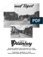 Waterbury Town Report 2018