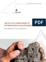 Use of Clay Conditioners to Optimize Production Efficiency