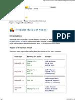 Irregular Plural of Nouns
