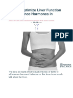 How to Optimize Liver Function to Rebalance Hormones in Wome1