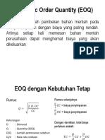 Oconomic Order Quantity (EOQ)