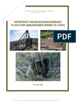 Utah DEQ Nonpoint source Mgmt Plan for Abandoned Mines in UTAH020508