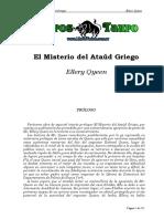 Queen, Ellery - El Misterio Del Ataud Griego.Doc