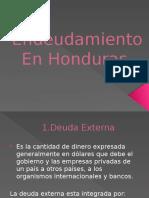 Diapositiva del endeudamiento en Honduras
