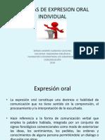 técnicas de expresión oral individual