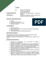 Perfil de Supervisor de Produccion.