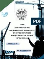 Aspectos Mas Importantes Del Diseño de Sistemas de Abastacimiento de Agua