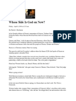 Whose Side is God on Now - 4/4/14 - Pat Buchanan - Creators.org