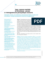 Anémie Hémolytique, Carence Martiale Et Antécédents de Thrombose