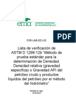 Guia Para Evaluar ASTM 1298 12b EMA