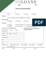 Fundloans Pre-qualification Form