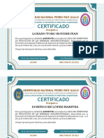 Solo 2do Certificado Asistente