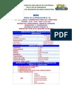 Bom Control de La Producción Limpiavidrios y Jabon Lavadora Primer Semestre 2019