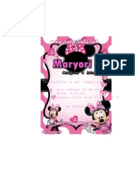 Invitacion Minnie Mouse