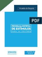 Condiciones de Participación - Convocatoria de Estímulos 2019