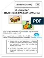 Healthy Packed Lunch Brochure