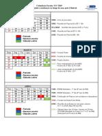 Calendário Escolar ILV 2019