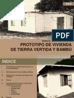 PROTOTIPO DE VIVIENDA DE TIERRA VERTIDA Y BAMBU ⁞▪AF