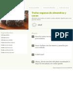 Trufas Veganas de Almendras y Cacao Receta de July.E - Cookpad