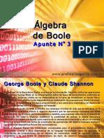 Técnicas Digitales  Apunte 3 - Álgebra de Boole