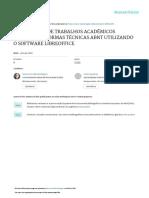 FORMATAÇÃO DE TRABALHOS ACADÊMICOS SEGUNDO AS NORMAS TÉCNICAS ABNT UTILIZANDO O SOFTWARE LIBREOFFICE