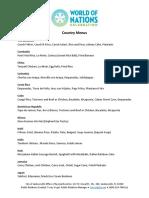 World of Nations menu 2019