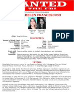 Maria-belen-francesconi Kidnapper Wanted Alive by FBI