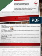 IMPORTANCIA DE LA TÉCNICA DEL MUESTREO APLICADA A LA INVESTIGACIÓN EN SALUD