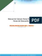 Manual Calculo Horas Extras y Horas Descuento