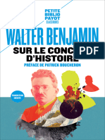 walter benjamin - Sur Le Concept d'Histoire