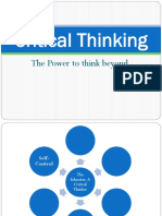 Critical Thinking the Power to Think Beyond