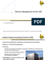 Introducing IT Service Management at the LRZ
