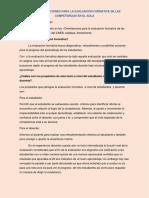 CNEB, Orientaciones Para La Evaluación Formativa de Las Competencias en El Aula