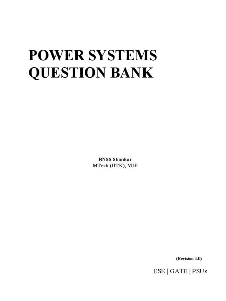 Psqb Rev 1 Pdf Transformer Electric Power Transmission