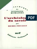 l Archeologie Du Savoir