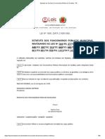 Estatuto Do Servidor (Funcionário) Público de Curitiba - PR