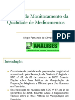 Ensaios de Monitoramento Da Qualidade de Medicamentos