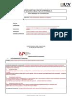 Planificación Específica Formato