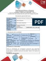 Guía de Actividades y Rúbrica de Evaluación – Paso 4 - Construcción de La Propuesta de Opción de Trabajo de Grado