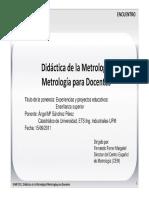 Didáctica de La Metrología - Metrología Para Docentes