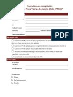 Formulario de Recopilación PTCM
