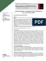 Pharmacognostic evaluation of stem and leaf of Cicer arietinum Linn.