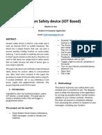 Women Safety Device