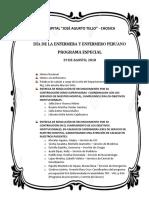 Programa Dia Del Enf 2018