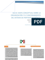 Mapa conceptual sobre la organizacion y el funcionamiento del sistema de partidos en México
